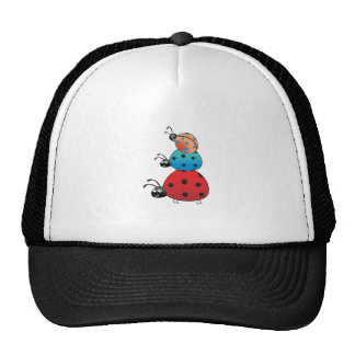 STACKED LADY BUGS MESH HAT