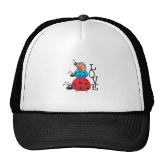 STACKED LADY BUGS LOVE HATS