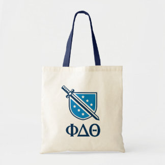 Stacked Logo and Letters - Blue 1 Tote Bag