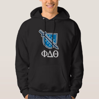 Stacked Logo and Letters - White Hoodie