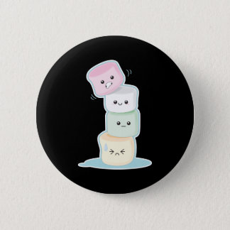 Stacked Marshmallows 6 Cm Round Badge