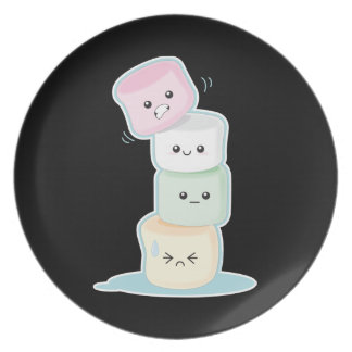 Stacked Marshmallows Dinner Plates