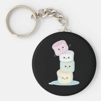 Stacked Marshmallows Key Ring