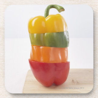 Stacked Pepper Slices Coaster