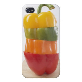 Stacked Pepper Slices Cover For iPhone 4