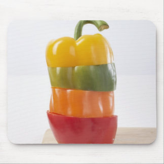 Stacked Pepper Slices Mouse Mat