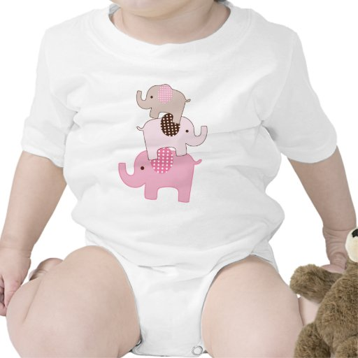 Stacked Pink Elephants Kids Shirt