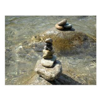 Stacked Rocks Postcard