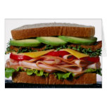 Stacked sandwich greeting card