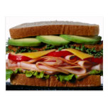 Stacked sandwich postcard