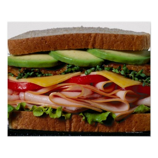 Stacked sandwich poster