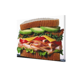 Stacked sandwich stretched canvas print