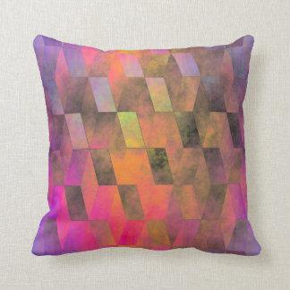 Stacked Sky (magenta-orange) Cushion