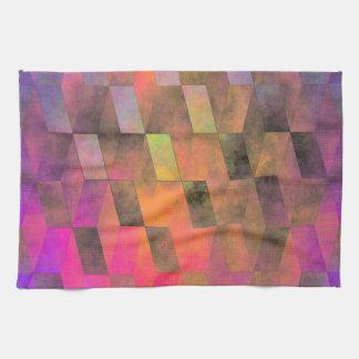 Stacked Sky (magenta-orange) Tea Towel