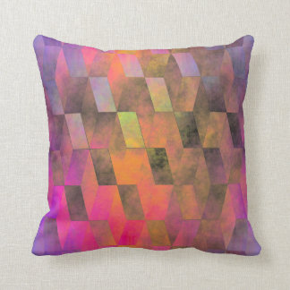 Stacked Sky (magenta-orange) Throw Pillow