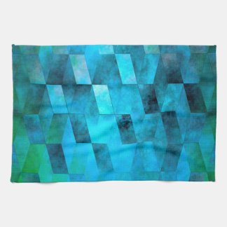 Stacked Sky (turquoise turquoise-green) Tea Towel