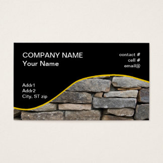 stacked stone wall business card