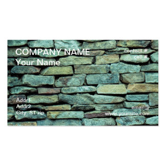 stacked  stone wall pack of standard business cards