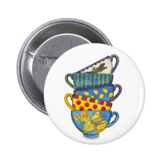 Stacked Teacups Button