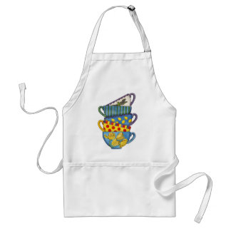 Stacked Teacups Standard Apron