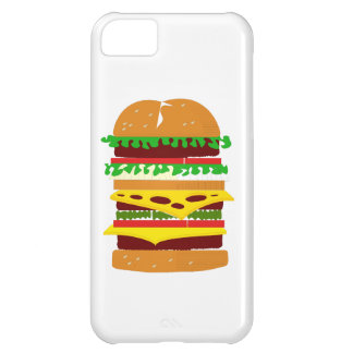 Stacked Triple Burger iPhone 5C Case