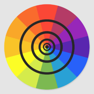stacked up color wheel sticker