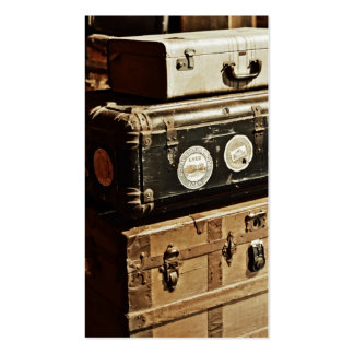 Stacked Vintage Travel Cases Pack Of Standard Business Cards