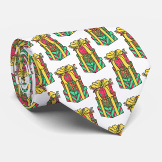 Stacked Wrapped Christmas Presents Xmas Tie