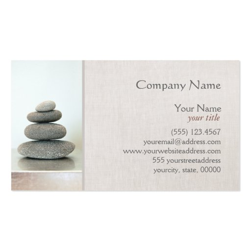 Stacked Zen Stones Business Card