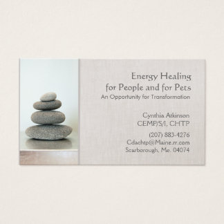 Stacked Zen Stones Holistic Health and Wellness Business Card
