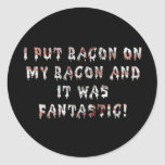 Stacking Bacon Round Sticker