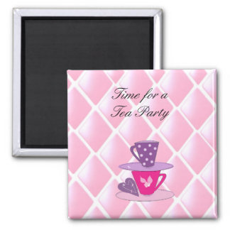 Stacking Teacups - Tea Party Magnet