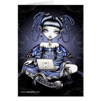 Stacy Blue Lap Top Fairy Card