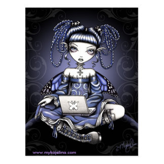Stacy Midnight Surfing LapTop Fairy Postcard