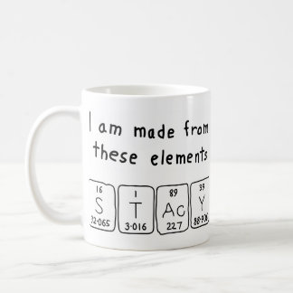 Stacy periodic table name mug