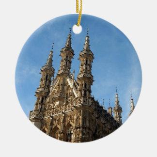 Stadhuis Leuven, Belgium Round Ceramic Decoration