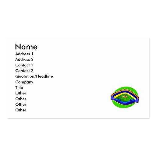 stadium business card template