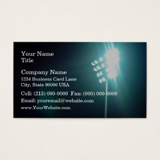 Stadium lights business card