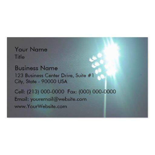 Stadium lights business card templates