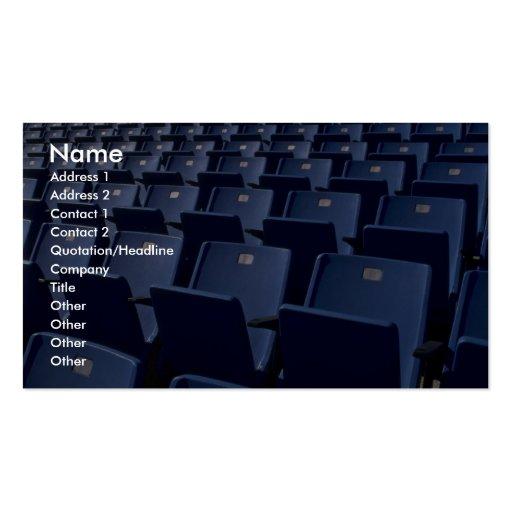 Stadium seats texture business card template