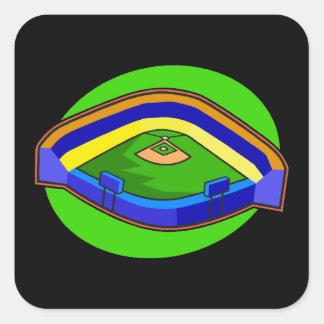 stadium square sticker