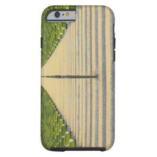 Stadium stairway between rows of green seats tough iPhone 6 case