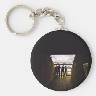Stadium Themed, A Bunch Of People Standing And Tal Basic Round Button Key Ring