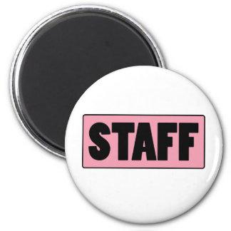 Staff 6 Cm Round Magnet