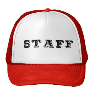 Staff Event Caps Hats Red Blue and Black