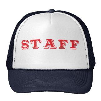 Staff Event Caps Red Font Cap