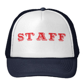 Staff Event Caps Red Font Cap