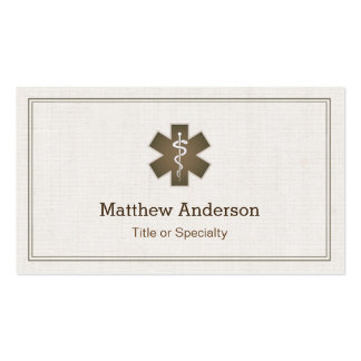Staff of Asclepius Medical Symbol - Physician Pack Of Standard Business Cards