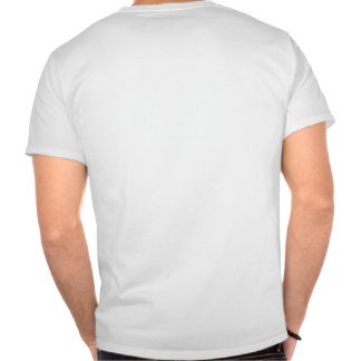 Staff on the back of the shirt