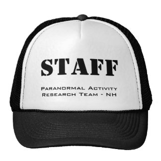 STAFF, Paranormal Activity Research Team - NH Trucker Hats
